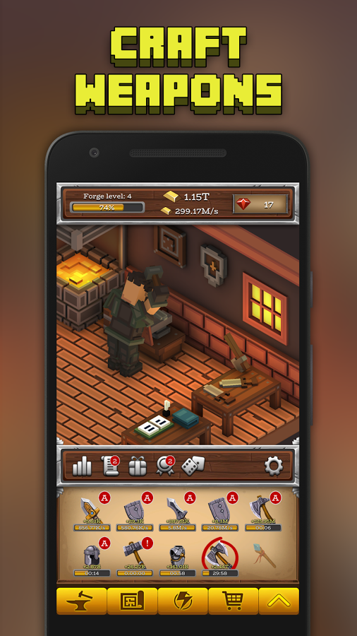 androidアプリ ForgeCraft -Idle Tycoon-(フォージクラフト)攻略スクリーンショット6