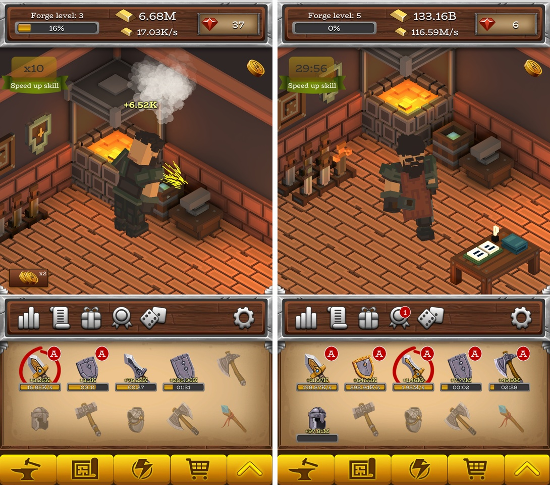 ForgeCraft -Idle Tycoon-(フォージクラフト) androidアプリスクリーンショット1
