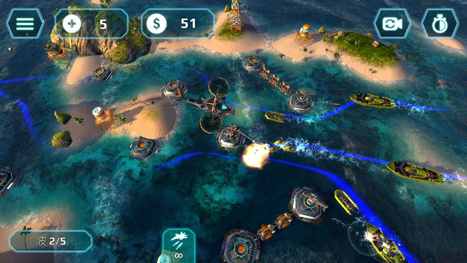 androidアプリ Naval Storm TD攻略スクリーンショット7