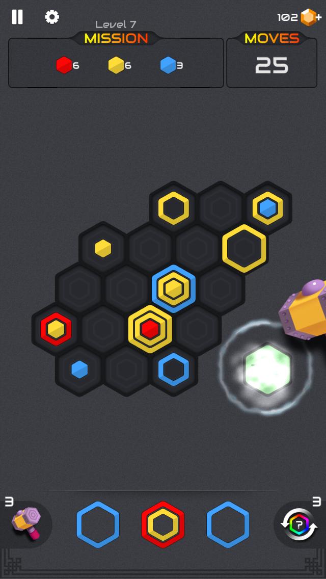 androidアプリ ヘキサブラスト (Hexa Blast)攻略スクリーンショット3