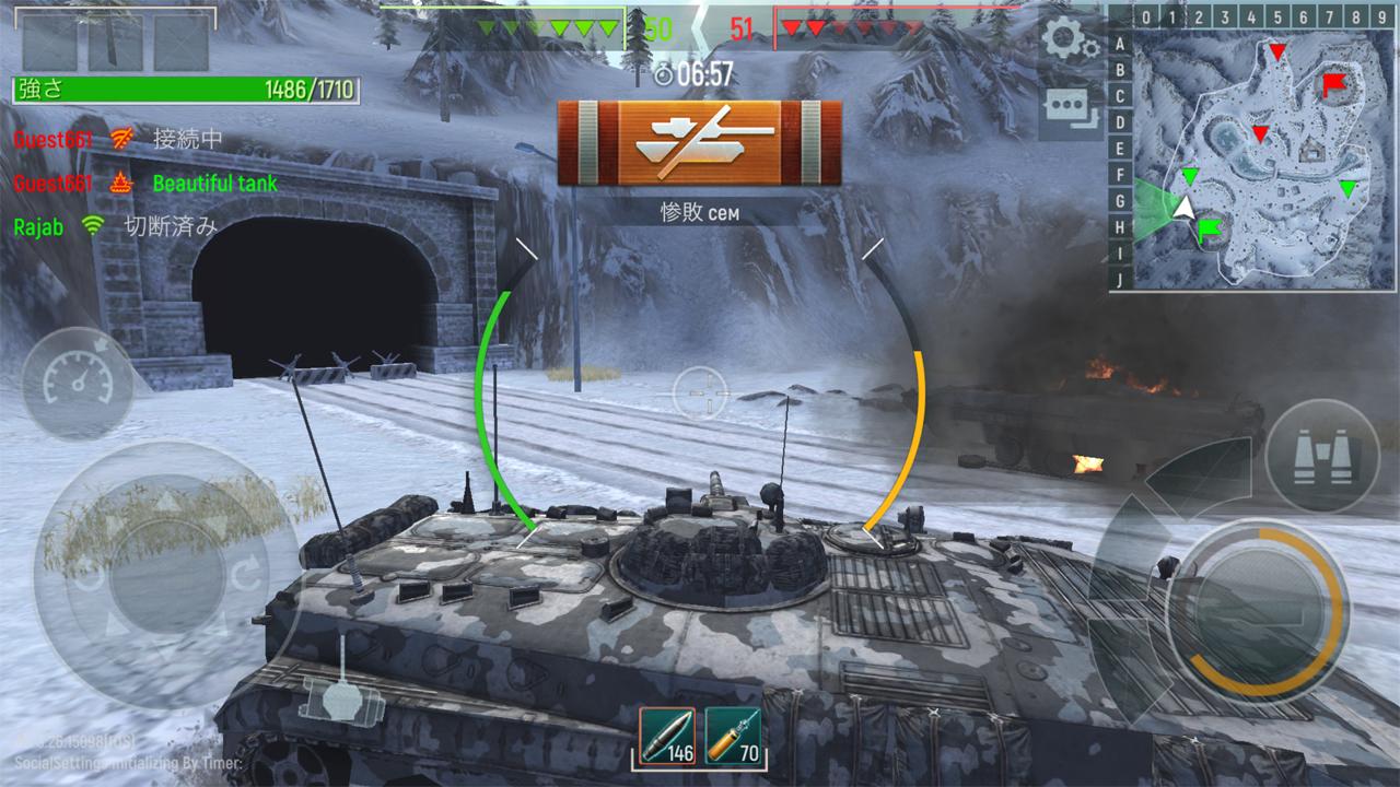 Tank Force: 3D タンク オンライン androidアプリスクリーンショット1