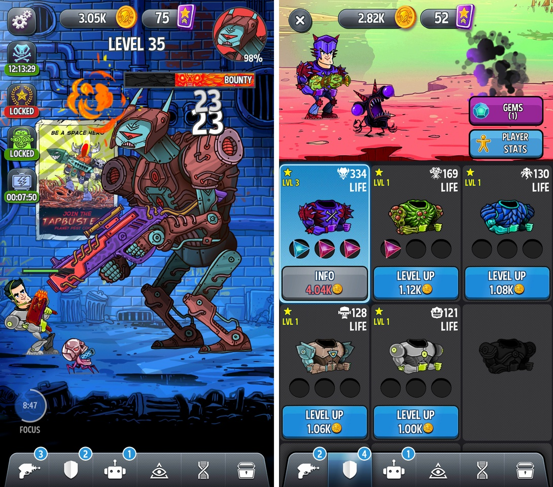 Tap Busters:Galaxy Heroes(タップバスターズ) androidアプリスクリーンショット1