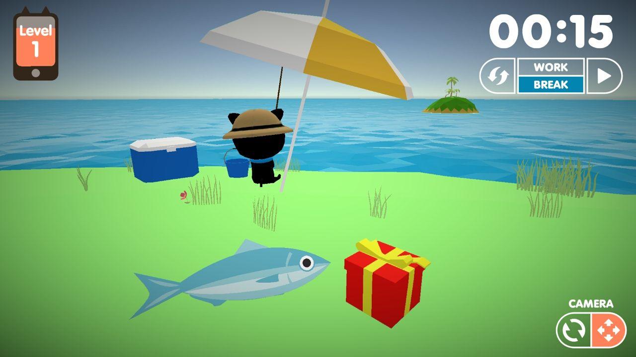 androidアプリ 釣りにゃんこ物語攻略スクリーンショット1