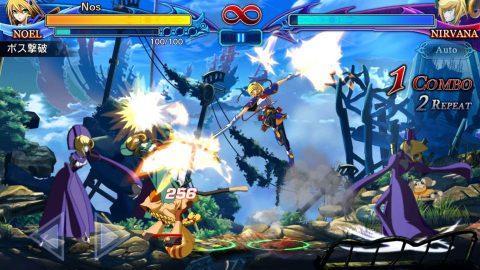 ブレイブルーRRの戦闘画面