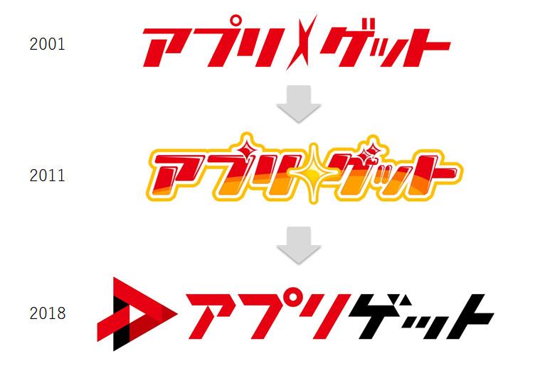 アプリゲットロゴ変遷