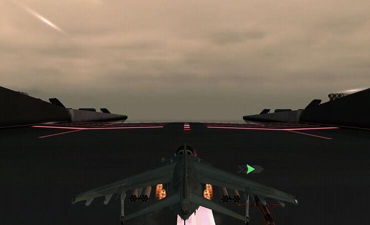 最前線の戦闘機