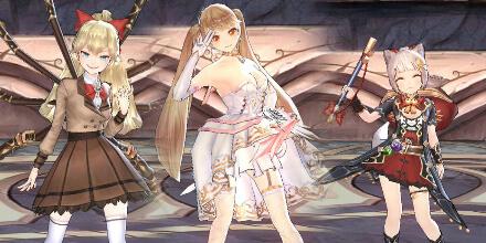 ドレスに制服、さまざまなコスチュームで激しいバトルアクション!この衣装は見えるかな?着せ替えも楽しくなる3DリアルタイムバトルRPG『キングスレイド』