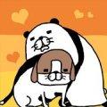 パンダと犬 いつでも犬かわいーぬ
