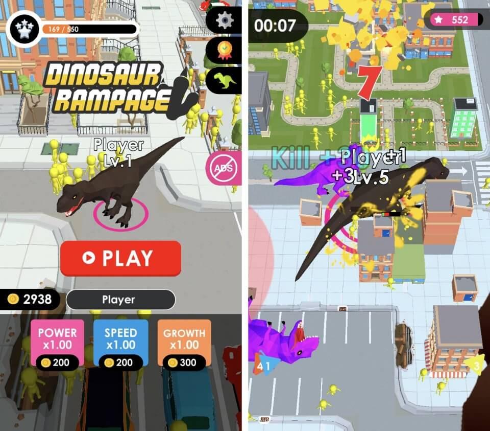 世界を、壊せ。恐竜となって街を、ライバルを喰らいまくる破壊のデストロイアクション「Dinosaur Rampage」レビュー