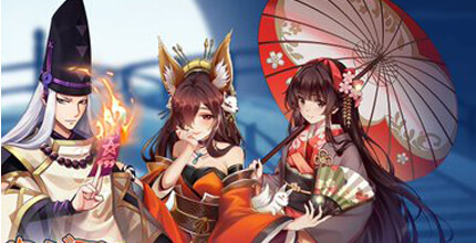 ケモ耳娘と和服美人に陰陽師!200名を超える戦姫と武将たちが待っている和風の放置育成RPG『炎ジョイ・舞遊烈伝』