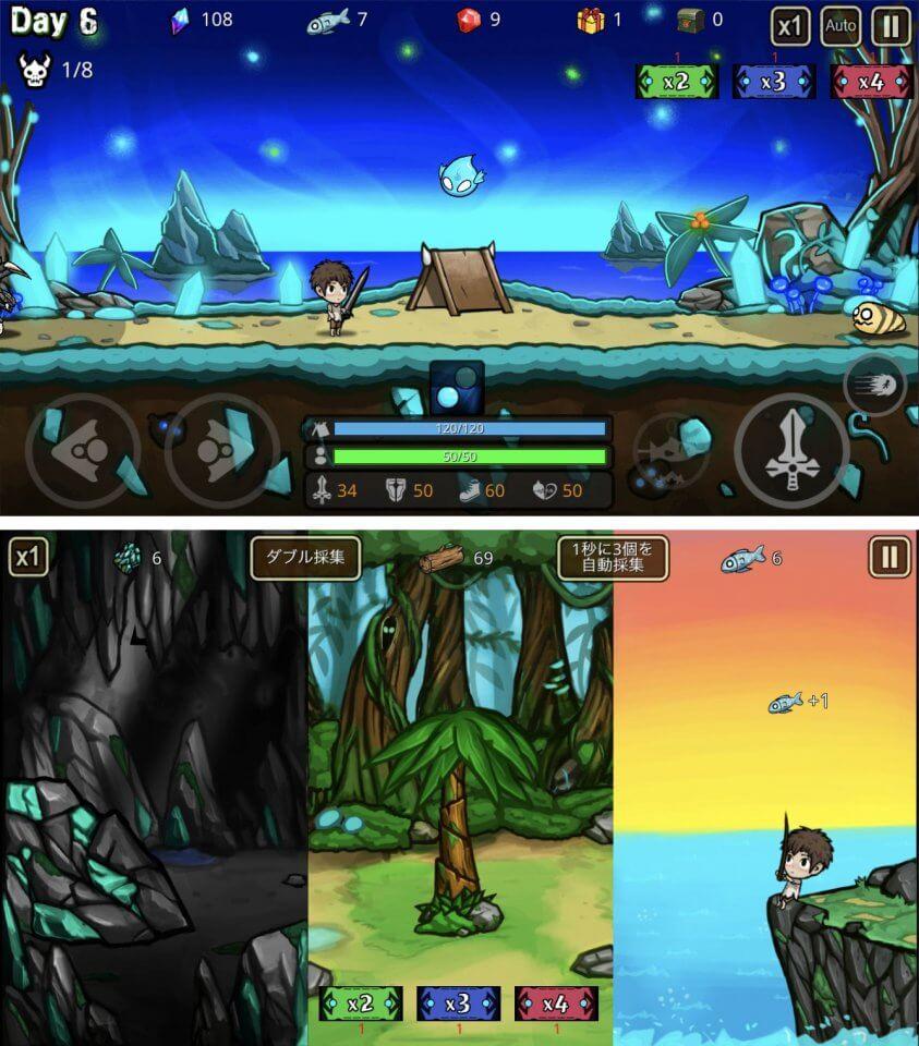 無人島で生き残れ!モンスターひしめく孤島で生き抜くサバイバルアクションRPG「無人島で生き残れ!」レビュー