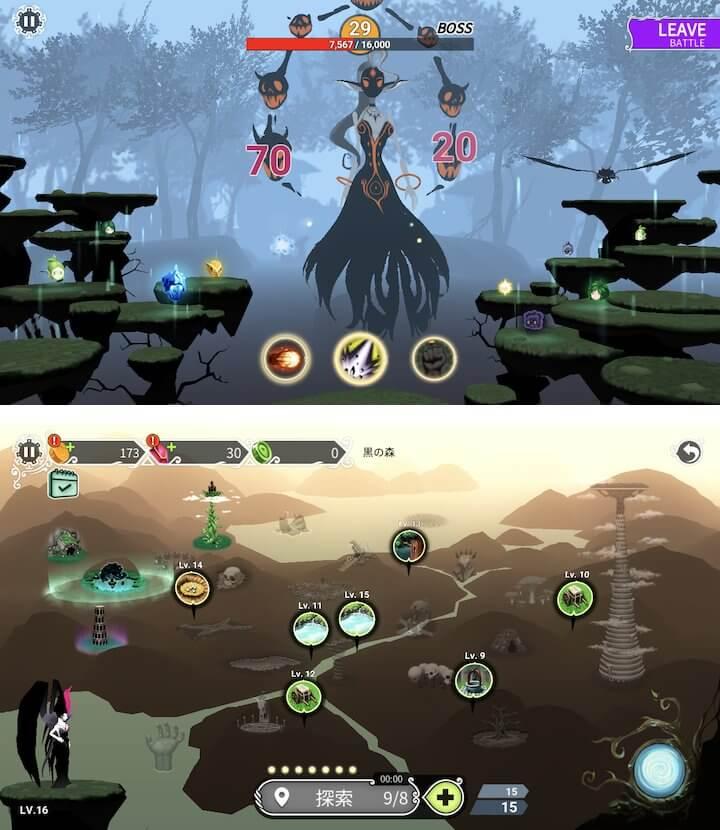 燃え尽きた世界樹。力を失った魔女を育成し、世界を復興させよう。鮮やかな色彩が魅力なRPG「魔女の森 – 世界樹育て」レビュー