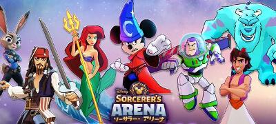 ディズニーやピクサーの人気キャラと共に戦うターン制RPG!冒険と競争に満ちたソーサラーの世界へ行こう