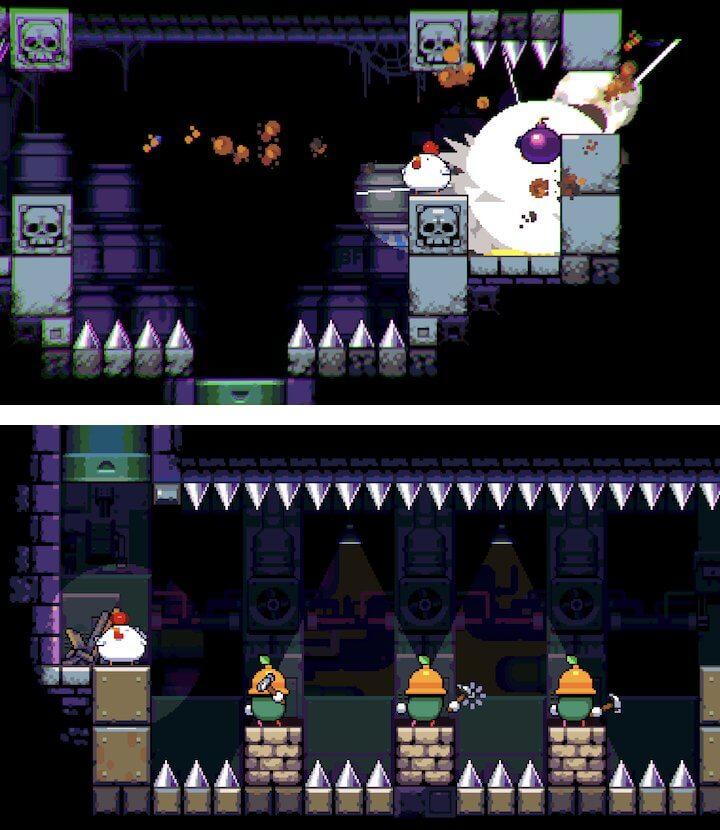 爆弾を生むニワトリ。Switchなどでも好評なジャンプできないのに爽快なドット絵レトロ2Dアクション登場!「Bomb Chicken」レビュー